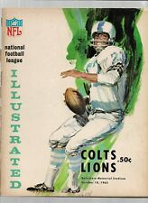 October 10, 1965 Colts vs Lions Official Football Program  Fair