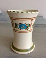 Vintage Honiton Pottery Bud Vase, Floral Flower Pattern Design, 9cm Devon Ware