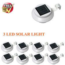 8 Pack Solar Power LED Lamp Outdoor Waterproof Gutter Security Spot Flood Light