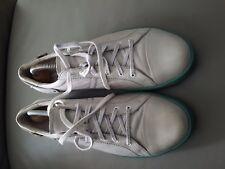 Durea Damenschuhe Schnürschuhe Sneaker grau Leder Gr. 6.5 / 40