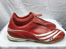 """Adidas F10 Mens 10D Red Leather """"Indoor"""" Low Top Shoes"""