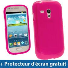 Rose Étui Coque TPU pour Samsung Galaxy S3 III Mini I8190 Android Smartphone
