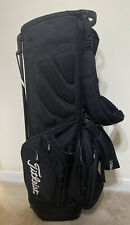 Titleist Stand Carry Golf Bag 14-way Dividers Black & White Dual Strap Preowned