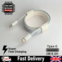2M USB C to USB C Charge Cable Sync Cable for MacBook iPad Samsung