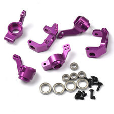 HSP Upgrade Parts Front/Rear Hub Carrier Steering For HPI 1/10 RC Car Purple