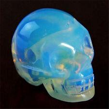 Beautiful  Opal Opalite  Skeleton head  Pendant Bead MGTCY283