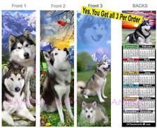 3 Lot-Alaskan Malamute 2019 Calendar BOOKMARK Siberian Husky Dog Gift Book Card