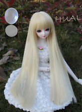 8-9-10 1/3 BJD Blonde Straight Long Wig LUTS Doll SD DOD MSD Pullip Dollfie Hair
