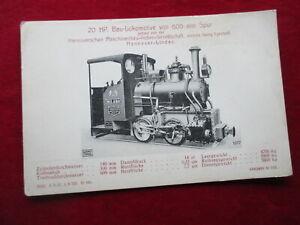 AK Dampflok Bau-Lokomotive Hannoversche Maschinenbau-Actien-Gesellschaft
