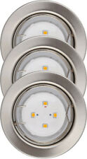 OBI-CMI LED Recessed Spots Nickel Brushed, 3x gu10 1,8w