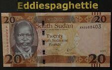 South Sudan 20 pounds 2017 UNC P-13c