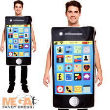 Smartphone Adult Fancy Dress Mobile Novelty Funny Womens Mens Costume Outfit New