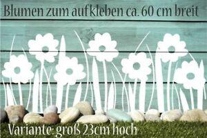 Wandtattoo Blumen  Blüten Fenster Aufkleber Dekoration Frühling Sticker