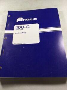 Fiat Allis 100-C Motor Grader Parts Catalog Manual