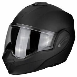 Scorpion Exo-Tech Matt Black Motorcycle Motorbike Helmet