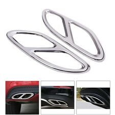 2x Rear cylinder exhaust pipe Cover Trim For Mercedes Benz E Class W212 W213 14+