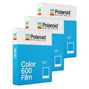 Impossible / Polaroid 600 Instant Colour Film for Polaroid Cameras - TRIPLE PACK