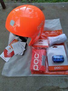 POC POCito NOS Skull Ski Helmet-XS-S 51/52-53/54-Snow Bib and LED Alert included
