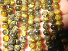 "BUTW Tiger eye  16"" strand 6mm round beads necklace 7022A"