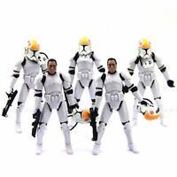 LOT 5PCS Star Wars 2005 Pilot 501st clone trooper ROTS action figure collect toy