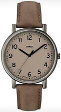 Timex Men's Easy Reader T2N957 Beige Leather Quartz Fashion Watch