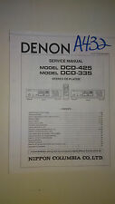 Denon dcd-425 335 service manual original repair book stereo cd player
