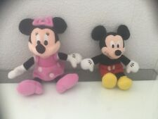 Disney Mickey & Minnie Mouse Plush Toys In Very Good Used Condition