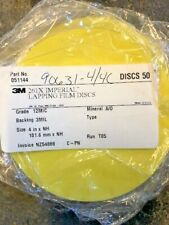 9 Packages of Yellow Lapping film discs 12 mic