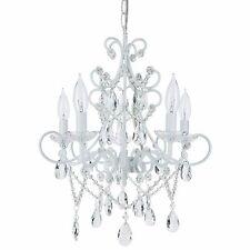 5 Light Crystal Chandelier Plug In Swag Pendant Hanging Lighting Fixture Lamp