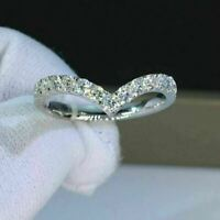 Excellent Round Shape 1.00 Ct Diamond Eternity Wedding Band Solid 14k White Gold