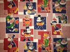 Vintage Disney Quilt, Sew, Fabric Panel