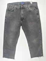 Mens Zara Dark Wash Relaxed Cropped Jeans W 34 - UK Large