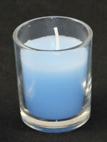 10 Boy Event Party Decoration Ocean Sea Blue Votive Wax Candle 6cm 10 hour burn