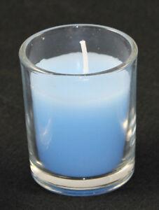 10 Purist Blue Votive Wax Candle 6cm 10 hour burn Boy Event Party Decoration