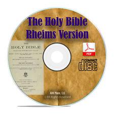 DOUAI DOUAY RHEIMS VERSION, CATHOLIC BIBLE With Apocrypha Classic PDF CD H11