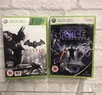 Batman Arkham City & Star Wars Force Unleashed Game Bundle Xbox 360 Action Fight
