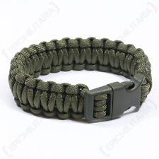 Olive Green PARACORD WRISTBAND Survival Camping Hiking Cord Bracelet - All Sizes