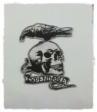 The Expendables Patch Sew Iron on Embroidered Movie Skull and Crow Team Logo New