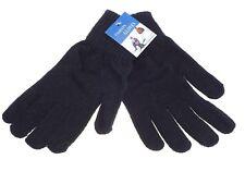 1 paire de gant homme - taille unique - uni noir - 90% acrylique - 10% spandex