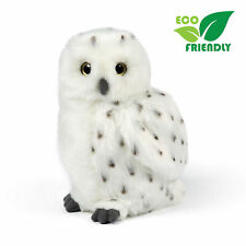 Living Nature - Snowy Owl Medium - Realistic Stuffed Plush Toy 18cm **NEW**