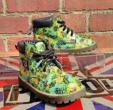 Rare Dr.Martens Bees,Bugs and Flowers Boots KIDS UK 11 EU 30 -  Made in England!