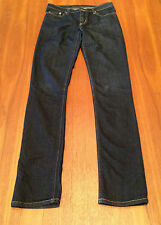 NOBODY Premium Blue Super Dark Wash Skinny Leg Ultra Low Rise Jeans 25 (7-8)