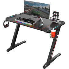 "Eureka Ergonomic Z1-S Gaming Desk 44.5"" Z Shaped, Controller Stand, mouse pad"