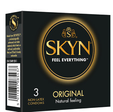 3 Pack Skyn Condoms - Thin Feel, Ultra Smooth NON LATEX UK SELLER, FAST SHIPPING