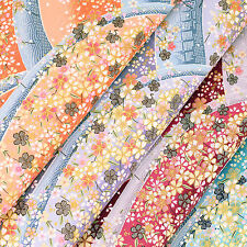 Japanese Cotton Fabric by FQ Oriental Flower Forest Print Asian Retro Dress VJ29