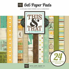 """ECHO PARK """"THIS & THAT CHARMING"""" 6X6 PAPER PAD BOY RETIRED  SCRAPJACK'S PLACE"""