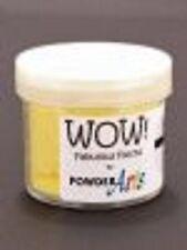 WOW Flock Powder YELLOW 1.5oz WT08R Raised Tactile Velvety Finish Non Toxic