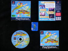 LOT CM + JEU PLAYSTATION PS1 : DISNEY PETER PAN AVENTURES AU PAYS IMAGINAIRE