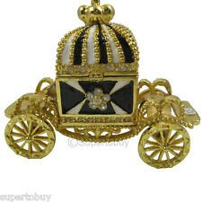 Jewelry Trinket Box Crystal Black Crown Car  JF8445