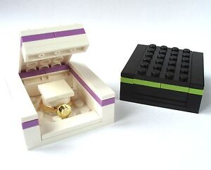 Ring Gift Box, made from LEGO brcks engagement wedding bride proposal